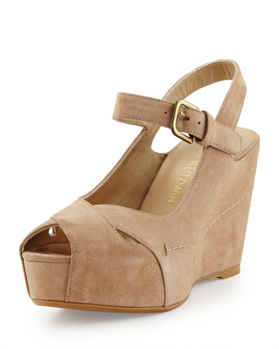 Turnover Suede Wedge Sandal