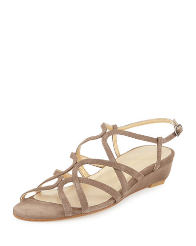 Turningdown Suede Demi-Wedge Sandal