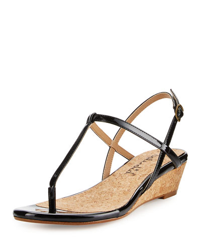 Edgewood Patent Wedge Sandal