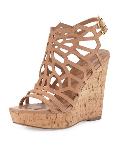 Apollo Laser-Cut Wedge Sandal