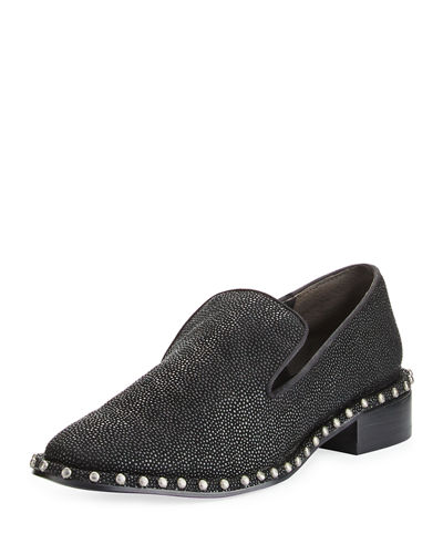 Prince Studded Leather Loafer