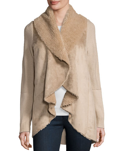 Faux-Shearling Cascade Jacket