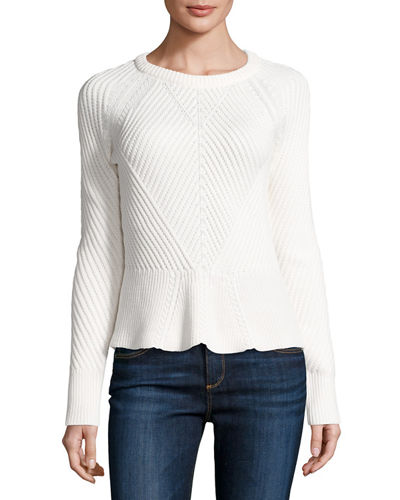 Ribbed Peplum Sweater
