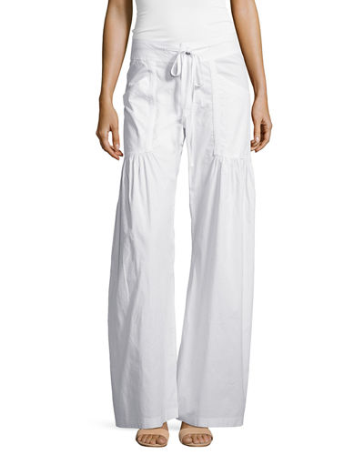 Willowy Wide-Leg Drawstring Cargo Pants