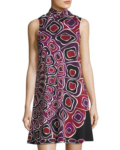 Mixie Sleeveless A-line Printed Dress