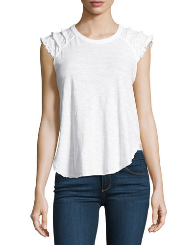 Ruffle-Shoulder Tee