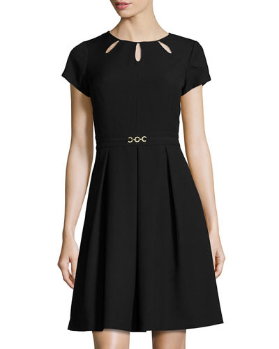 Kyhl Fit-and-Flare Short-Sleeve Dress