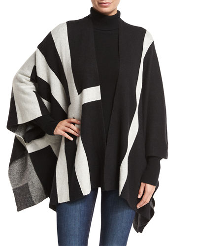 Open-Front Multi-Striped Cardigan