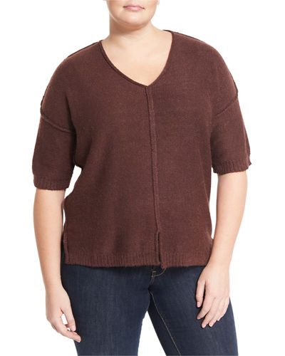 Drop-Shoulder Relaxed Sweater