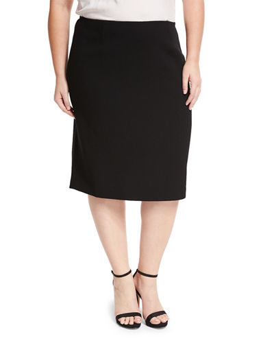Nouveau Crepe Twill Revelin Skirt, Plus Size