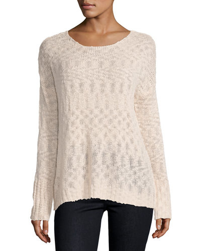 Ina Lace-Up Back Sweater