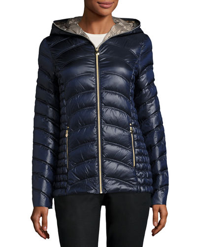 Lightweight Quilted Down Coat