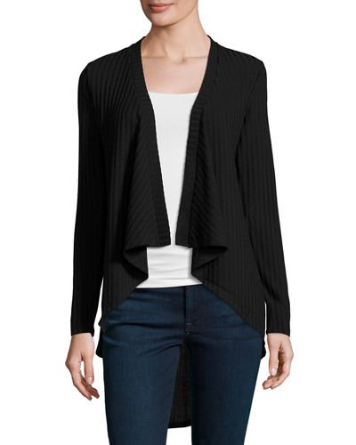 Ribbed Open-Front Jacket
