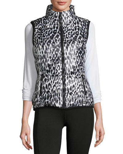 Packable Printed Puffer Vest