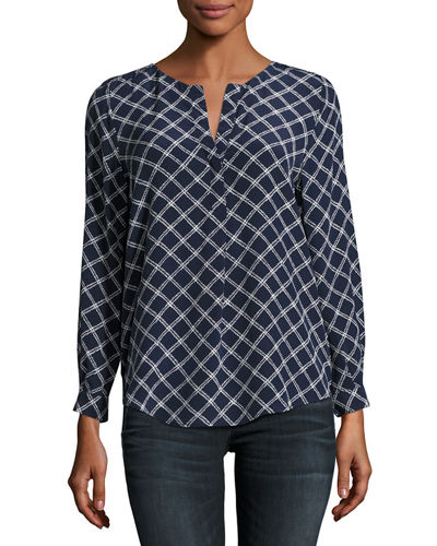 Arrosa Printed Silk Top