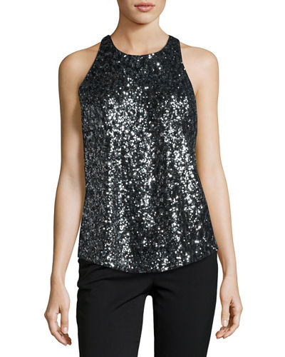 Marie Sleeveless Sequined Top