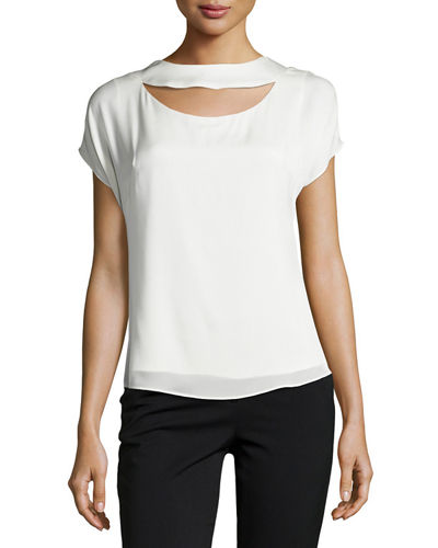 Cutout Draped-Back Top