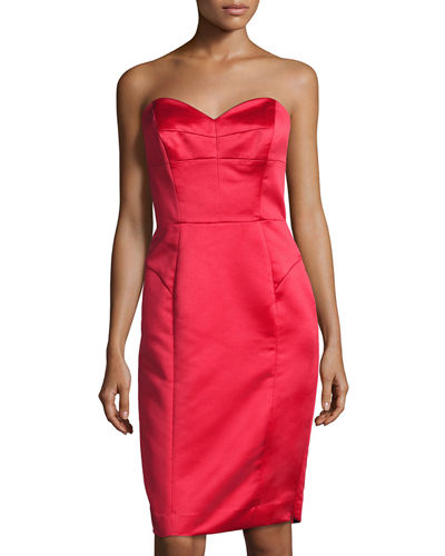 Marta Duchess Satin Strapless Dress