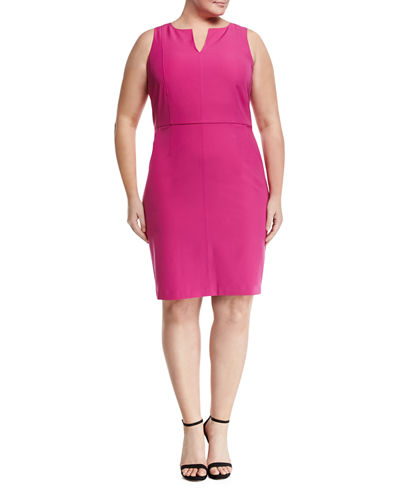 Seamed Sheath Dress Plus Size