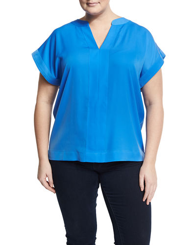 Split-Neck Dolman Tee, Plus Size