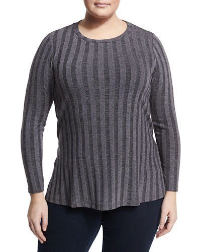 Alexa Ribbed Knit Top Plus Size