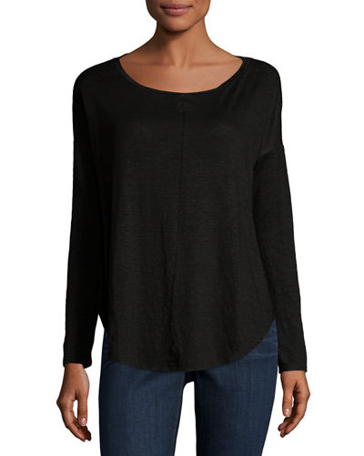 Relaxed Scoop-Neck Top
