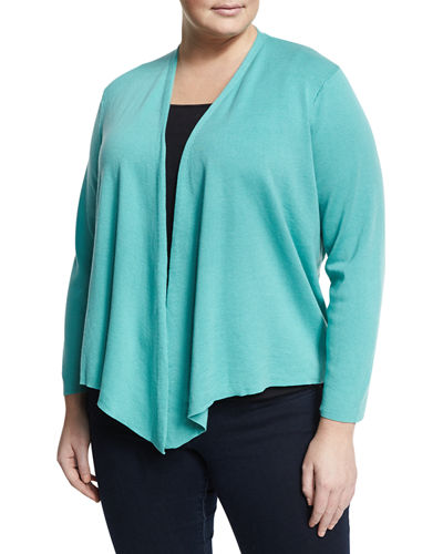 Four-Way Asymmetric Cardigan, Plus Size