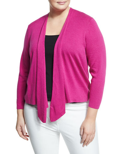Four Way Asymmetric Cardigan Plus Size