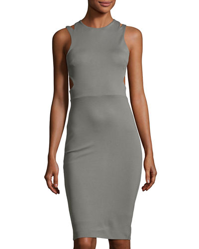 Lula Stretch Sheath Dress with Cutouts