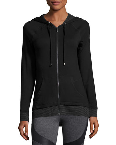 Thermal-Trim Hooded Sweatshirt