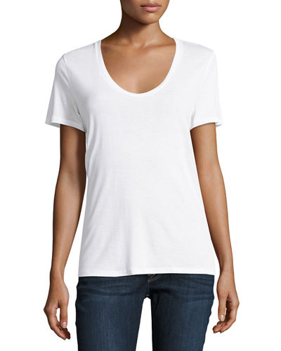 Jersey Scoop-Neck Tee
