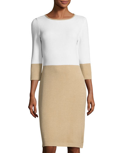 Colorblock Santana Knit Dress