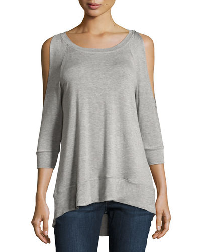 Jersey Cold Shoulder Tee