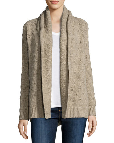 Tuck-Stitch Knit Cardigan
