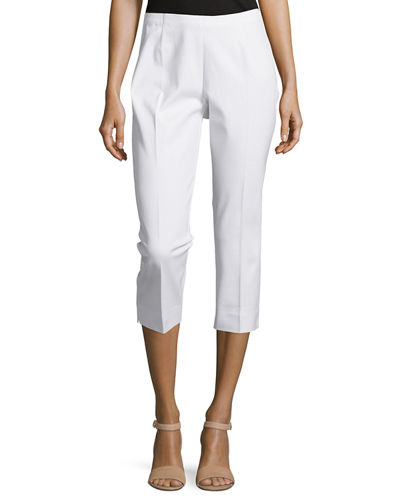 Cropped Bi-Stretch Pants