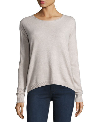 Cashmere Suede Elbow-Patch Sweater
