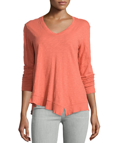 Slouchy High-Low Long-Sleeve Tee