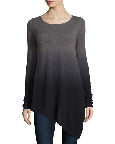 Ombre Cashmere Asymmetric Sweater