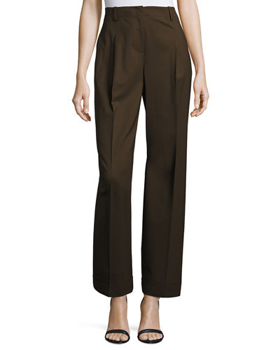 Harrison High-Rise Pleated Pants
