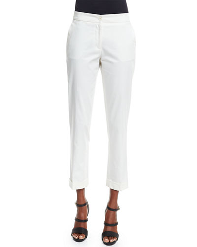 Straight-Leg Capri Pants