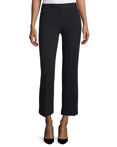 Floc Mid-Rise Straight Cropped Pants