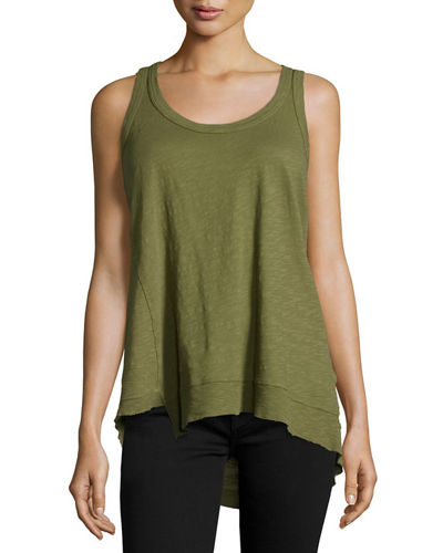 Twist Asymmetric Racerback Tank Top