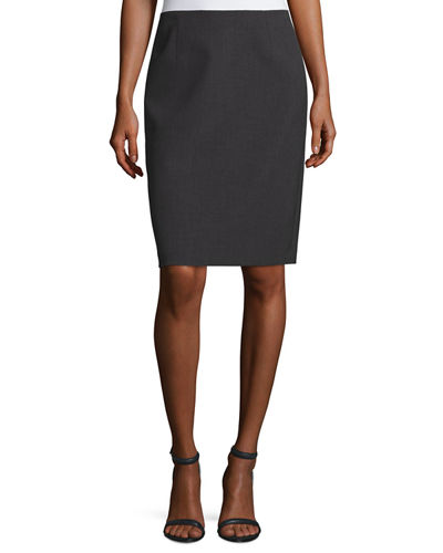 Aleena Crepe Pencil Skirt