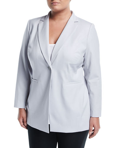 Dannette One-Button Jacket, Plus Size