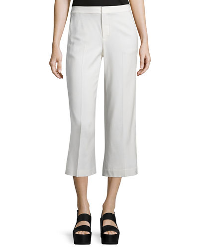 Tailored-Fit Pleated Culottes
