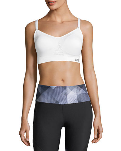 Space Dye Mesh Trim Sports Bra