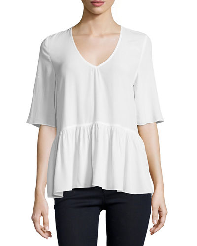 Jules Back Cutout Top White