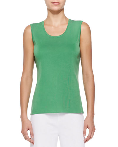 Scoop-Neck Knit Tankwater, Plus Size
