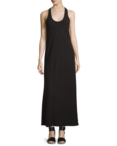 Scoop-Neck Jersey Maxi Dress