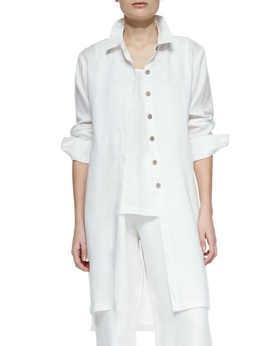 Long Sleeve Linen Duster